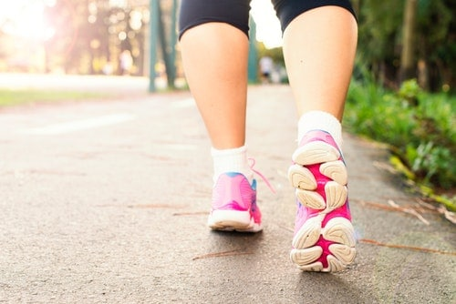 woman starting the healthy habit of walking every day