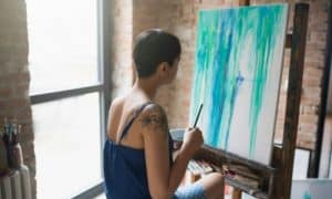 INTJ woman painting a picture